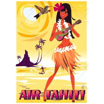 Pin-Up - Air Tahiti